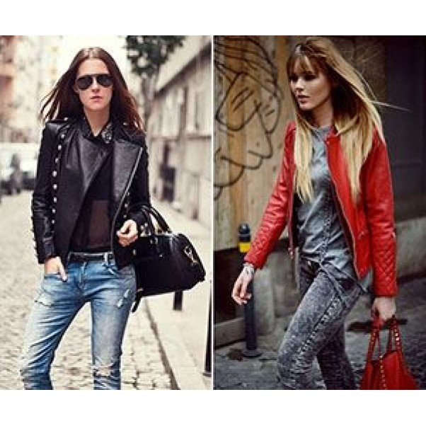 С  какво да комбинираме кожените дамски якета?